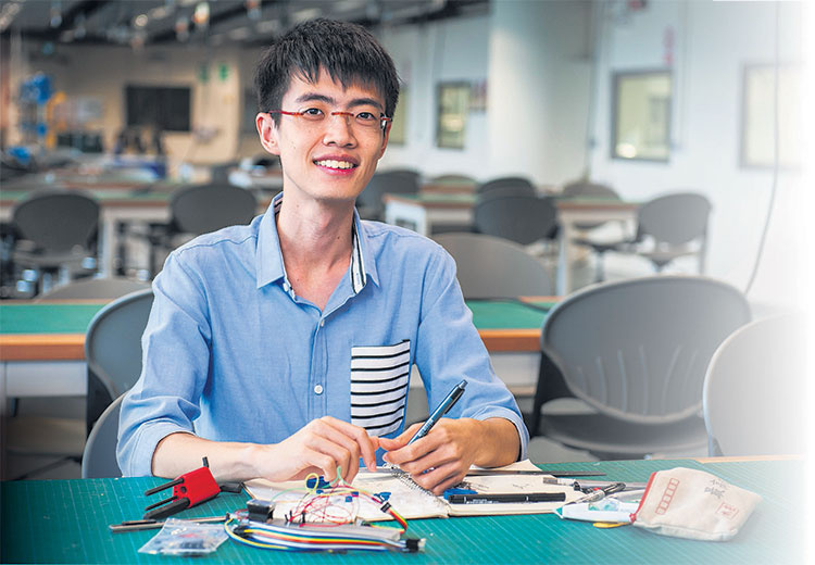 One of the pioneer batch of students at SUTD, Mr Lee intends to enrol in the PhD programme. PHOTO: NURIA LING